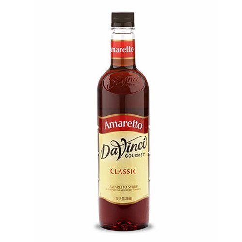 (Da Vinci Amaretto Syrup, 750 ml Bottle (Plastic).)
