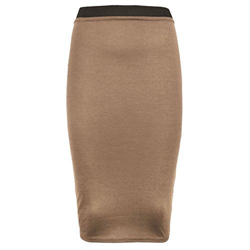 fuseau mi Mokka femmes pour bureau Clothing long Jupe habill Outofgas UvqS1E