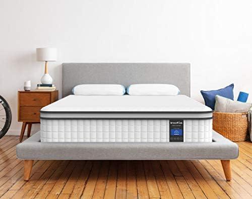 Full Mattress Inofia Responsive Memory Foam Mattress Hybrid Innerspring Mattress in a Box Sleep