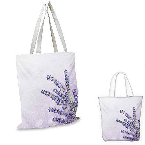 Organic Spa Tote (Lavender shopping bag storage pouch Little Posy of Medicinal Herb Fresh Plant of Purple Flower Spa Aromatheraphy Organic small tote shopping bag Lavander. 12