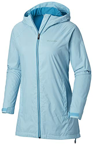 Blue Lined Jacket - Columbia Women's Switchback Lined Long Jacket, Clear Blue Large