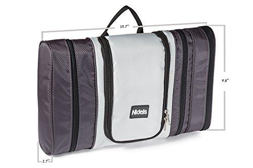 Nidols Toiletry Bag For Men Women Large Travel Hanging Organizer Cosmetic Kit