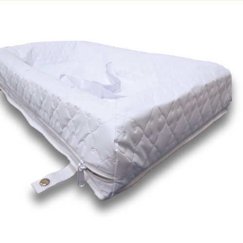 Rumble Tuff Zipped Contour Changing Pad, White, Compact (Changing Table Pad Four Sided)