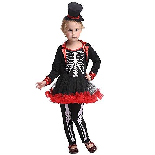 Toddler Kid Girl Halloween Costumes Sugar Skull Skeleton