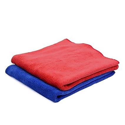 eDealMax 2pcs 40 x 40 cm de limpieza de microfibra de coches 400gsm secar las toallas