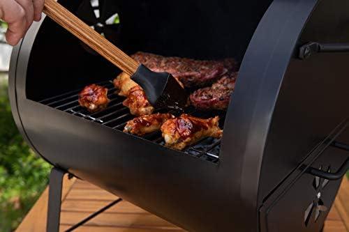 Amazon Basics Barbecue au charbon de bois de taille compacte, barbecue de table et foyer latéral, noir
