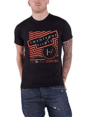 21 Twenty One Pilots T Shirt Vertigo Band Logo Official Mens Black