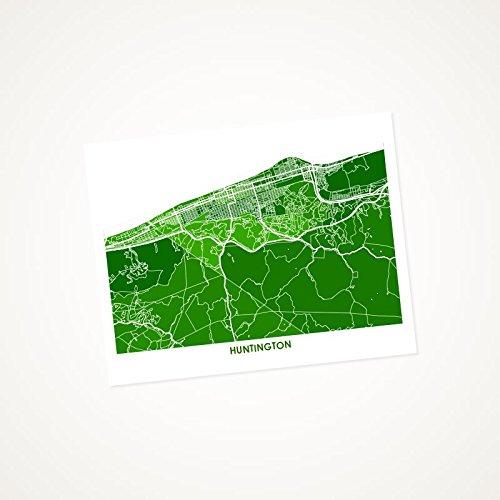 Admirable Amazon Com Huntington West Virginia Art Map Print Choose Home Interior And Landscaping Ymoonbapapsignezvosmurscom