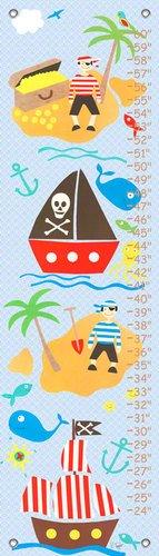 Oopsy Daisy, Fine Art For Kids PE2994 Growth Chart Collage Pirate Boys Growth (Oopsy Daisy Collage)