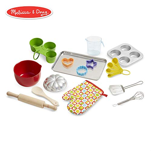 Melissa & Doug Let's Play House Baking Play Set (Pretend Play Kitchen Accessories, 20 Pieces) -
