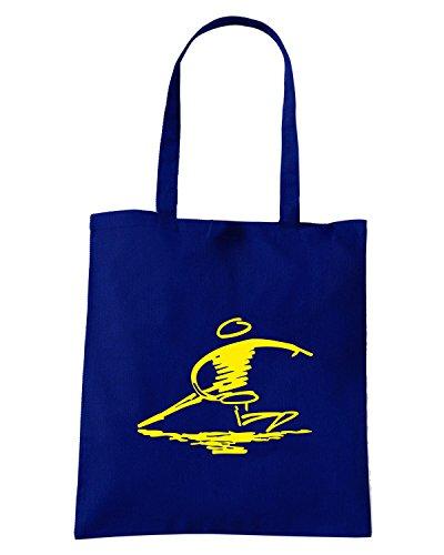 T-Shirtshock - Bolsa para la compra FUN1225 disc golf diecut vinyl decal 4 82019 Azul Marino