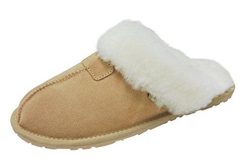 (SLPR Women's Sheepskin Tahoe Slippers (9, Sand))