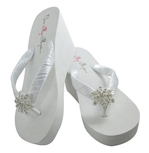 a3f2e964a Princess Wedding Wedge Flip Flops