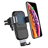 andobil Wireless Car Charger Mount, Auto-Clamping 10w Qi Fast Charging Car Phone Holder Air Vent Compatible with iPhone Xs/XR/ X/ 8/8 Plus, Samsung Galaxy Note 9/ S9/ S9+ / S8/ S8+ and More