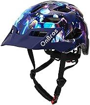 OnBros Kids Bike Helmet, Chilren's Mountain Bike Helmet, Lightweight Adjustable Child Helmet for Boys Girl