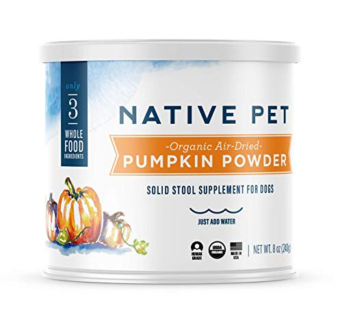 Native Pet Organic Pumpkin for Dogs (8 oz, 16 oz) - All-Natural, Organic Fiber for Dogs - Mix with Water to Create Delicious Pumpkin Puree - Prevent Waste with a Canned Pumpkin Alternative! (8 oz)