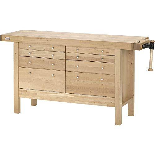 Grizzly H7724 Birch Workbench with Drawers, 60-Inch