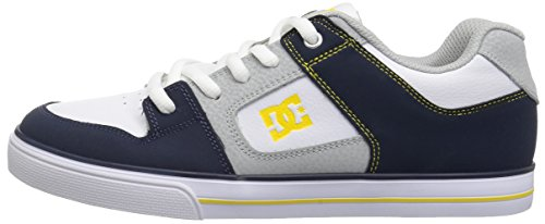 Pictures of DC Pure Elastic Skate Shoe Navy/Grey ADBS300348 Navy, Grey 5