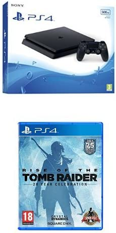 PlayStation 4 Slim (PS4) - Consola de 500 GB + Rise Of The Tomb ...