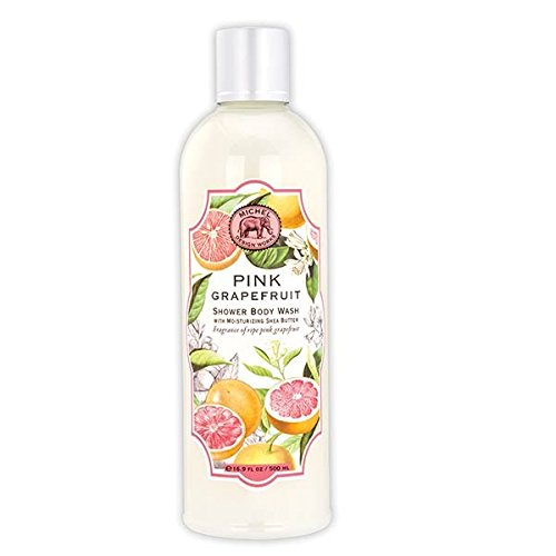 (Michel Design Works Moisturizing Shea Butter Shower Body Wash, Pink Grapefruit,)