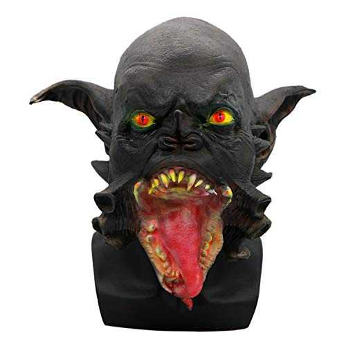 Halloween Mask Scary Adult Horror Alien Mask Headgear Latex Mask Ball Prom Props ()