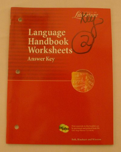 Librarika Holt Elements Of Literature Language Handbook