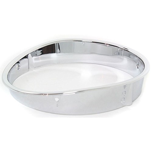 Diften 168-C3570-X01 - New Head light Headlight Door Headlamp Bezel Driver Left Side Chrome LH Hand