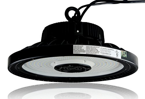 Dimmable 21,750 Lumen Titan II 150 Watt LED High Bay Light - 5000K Bright White - Replace 400 Watt Metal Halide LED High Bay Lighting UFO LED Light - Ultra Efficient 145 Lumens to Watts - DLC Premium
