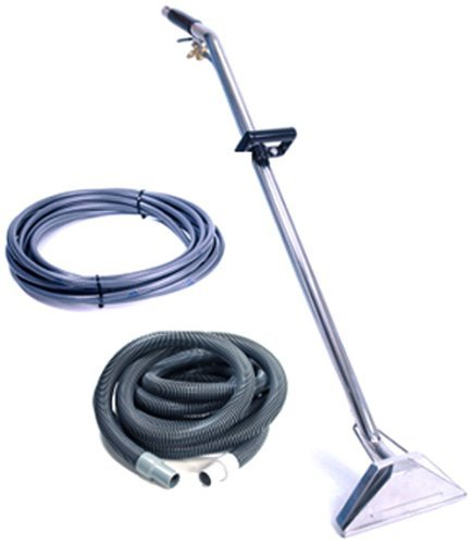Sandia 80-0500 Stainless Steel Dual Jet Wand Kit with 25' Vacuum and Solution Hoses by Sandia Machines