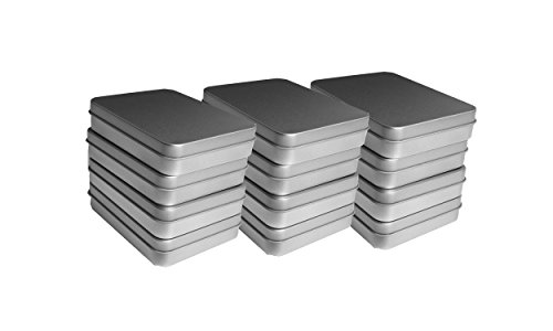 12 pcs/lot Storage Kit Tins Hinged Silver Small Empty Plain Metal Rectangular Storage Bit Box Case For Money Coin Candy