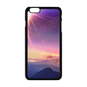 Sun And Earth Black Phone Case for iPhone 6 Case
