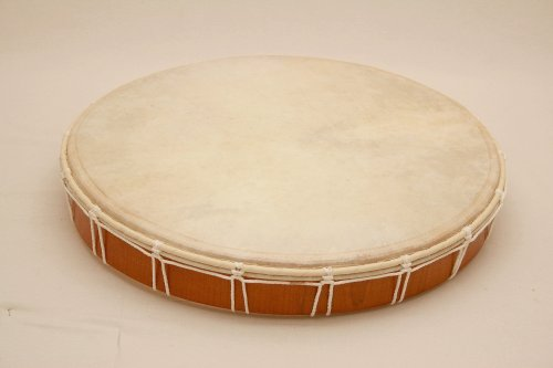 Shamanic Frame Drum/ /Natural Skin//Diameter 50/cm Triangle with Beater