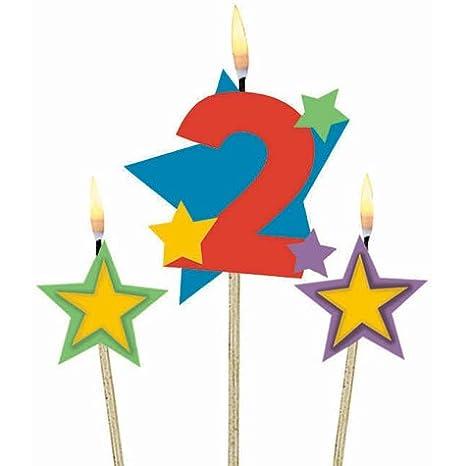 3 St/ück Amscan Geburtstagskerzen 1 Sterne