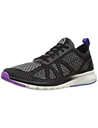 Reebok Women's Print Smooth Clip ULTK Running Shoes, Black/Chalk/Vicious Violet/Vital Blue