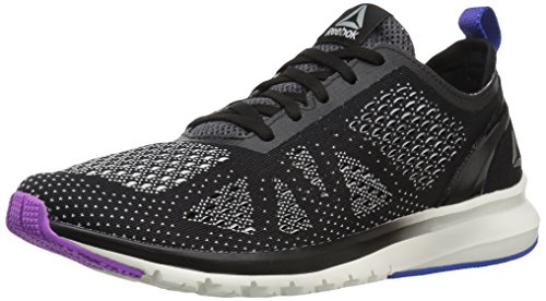 Reebok Women's Print Smooth Clip Ultk Track Shoe, black/chalk/vicious violet/vital blue, 10 M US by Reebok (Image #1)