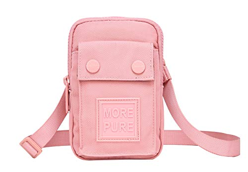 ef049205f097 MOREPURE 532s Crossbody Cell Phone Bag Small Travel Wallet, Millennial Pink