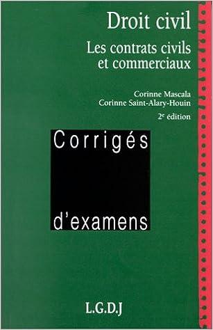DROIT CIVIL. Les contrats civils et commerciaux, 2ème édition pdf