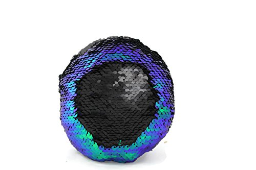 Little Monkey The Original Fidget - Blue, Green & Black Circle Sequin Pillow Fidget Toy for Sensory Therapy to Relieve Stress and Increase Focus for Adults and Kids. Helps with ADHD ADD Autism 3C (Add Toy)