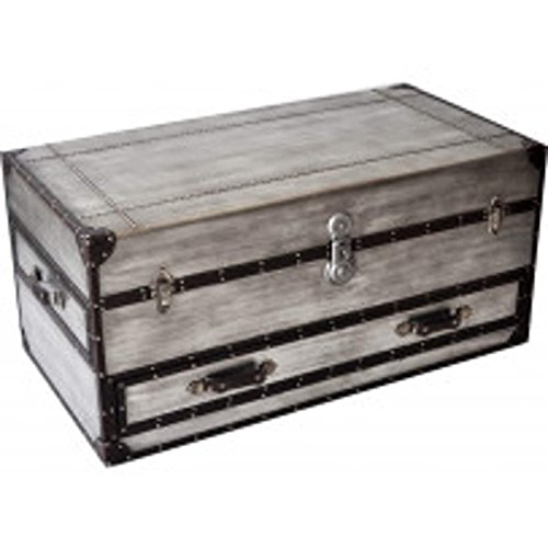 Bassett Mirror Company Rectangular Trunk Cocktail Table with Casters