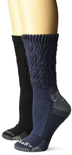 Dr. Scholl's Women's Advanced Relief 2-Pair Crew Socks, Deni