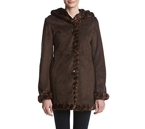 jones new york faux suede coat - 1
