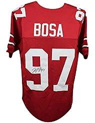 Joey Bosa Autographed Ohio State Buckeyes Custom Red Football Jersey - JSA COA
