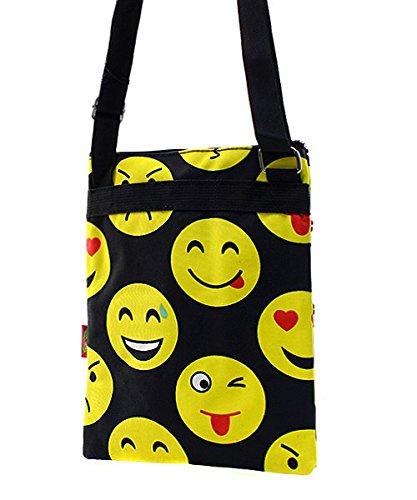 Emoji Messenger Bag Smiley Face Cross Body Shoulder Handbag by Handbag Inc (Image #3)