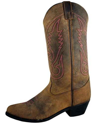 Boots Womens Leather Cowboy - Smoky Women's Brown Western 12