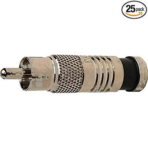 (Platinum Tools 18051    RCA RG6 Compression, Nickel Plated, 25-Pack)