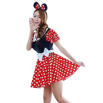 2ea9869d80573 雑貨の国のアリス ミニーマウス 風 コスプレ衣装 ワンピース コスプレミニ― キッズ ハロウィン