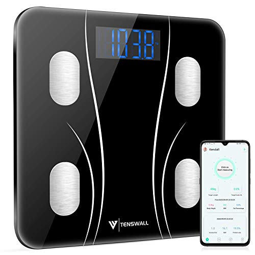 Body Weight Scale, Digital Bathroom Scale, Body Composition Monitor Health Analyzer with Smartphone App for Body Weight…