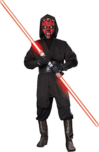 Star Wars Deluxe Adult Darth Maul Costume,Black,Standard -