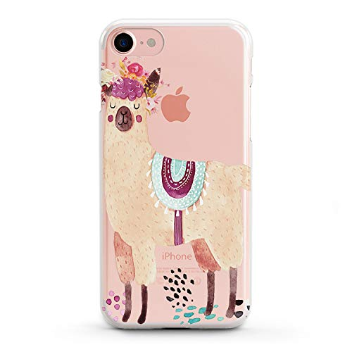 Lex Altern Case Xs Max iPhone X 8 Plus 7 6s 6 SE 5s 5 TPU Llama Clear Kawaii Apple Cute Phone Cover Pink Print Flower Protective Floral Lightweight Animal Women Xr Silicone Transparent Flexible Girl