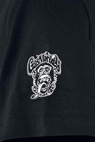 Monkey shirt Side Gas Garage Black T dxwqdA0g